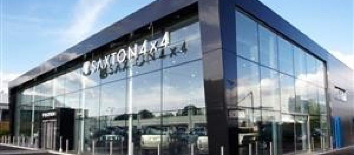 saxton car glass building