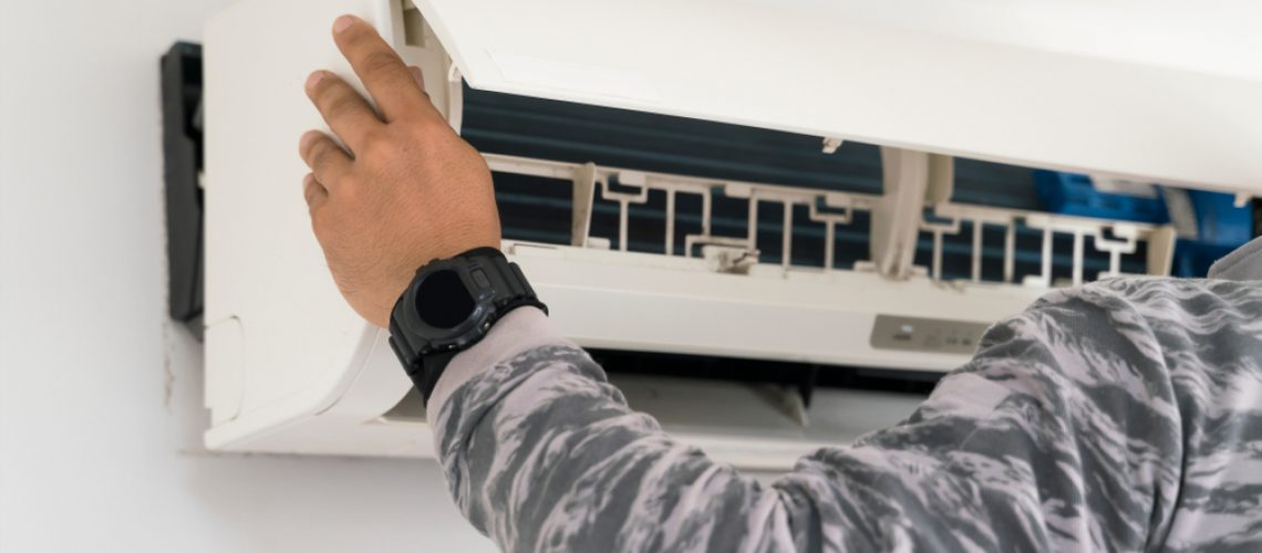 fixing air conditioning wall unit